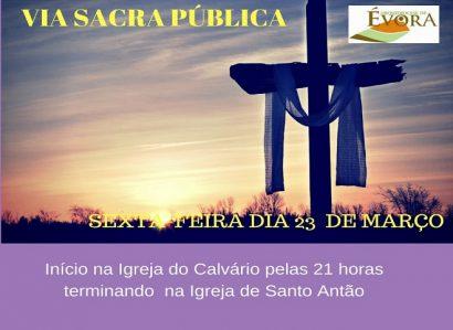 23 de Março: Via Sacra Pública  em Évora
