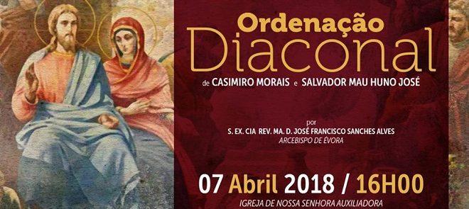 7 de Abril: Arcebispo de Évora preside a ordenação diaconal na comunidade salesiana de Évora
