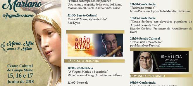 15 a 17 de Junho: Congresso Mariano Arquidiocesano realiza-se em Campo Maior