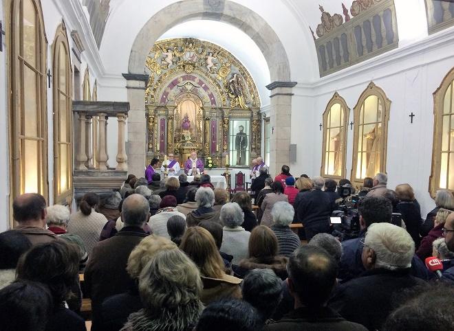 Missa celebrada em Borba no dia 21 de Novembro de 2018, dois depois do colapso da estrada municipal 255