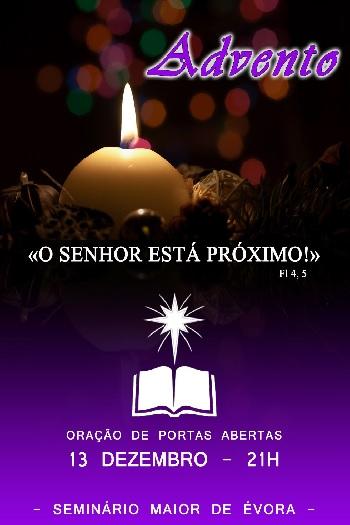 13 de Dezembro: Oração de Portas Abertas no Seminário Maior de Évora