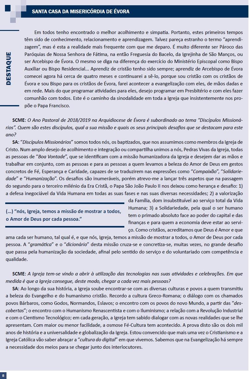 1 - JANEIRO2019_ENTREVISTA BOLETIM SANTA CASA EVORA_2