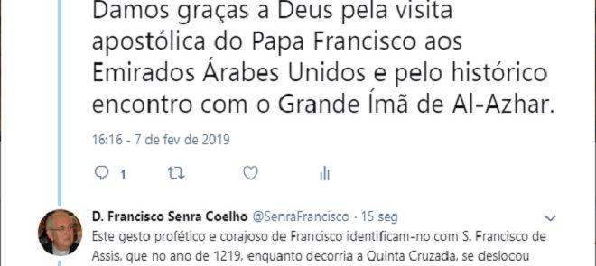 TWEET DE 7 DE FEVEREIRO DE 2019: FESTA DAS CINCO CHAGAS