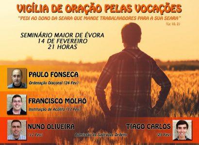 14 de Fevereiro: Vigília de Oração pelas Vocações no Seminário Maior de Évora