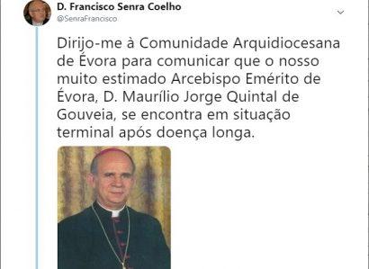 TWEET DE 18 DE MARÇO DE 2019: ORAÇÃO POR D. MAURÍLIO DE GOUVEIA