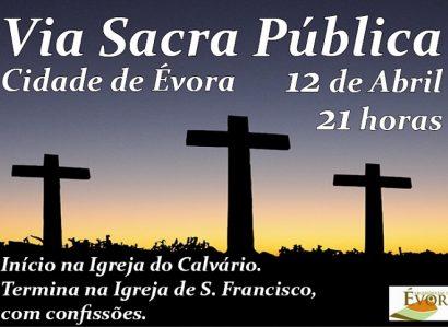 12 de Abril: Via Sacra pública realiza-se na cidade de Évora