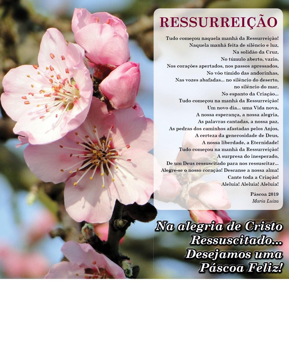 Santa Pascoa Poema 2019