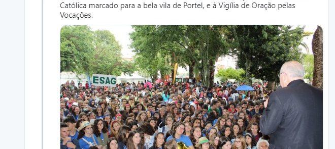 Tweet de 9 de Maio de 2019: Encontro de EMRC e Vigília de Oração pelas Vocações