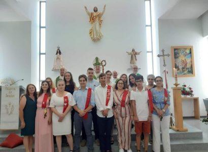 Arcebispo de Évora ministra Sacramento  da Confirmação em Oriola