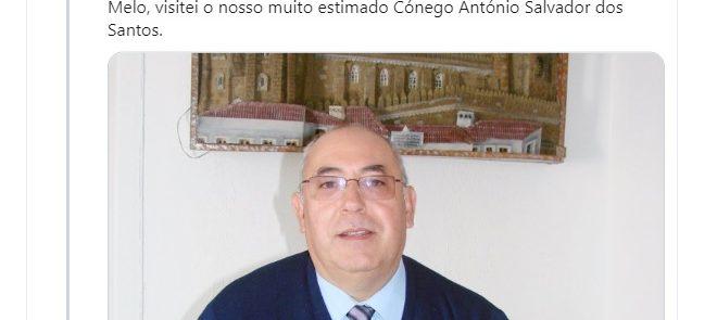 Tweet de 5 de Agosto de 2019: Orações pelo Cónego António Salvador dos Santos