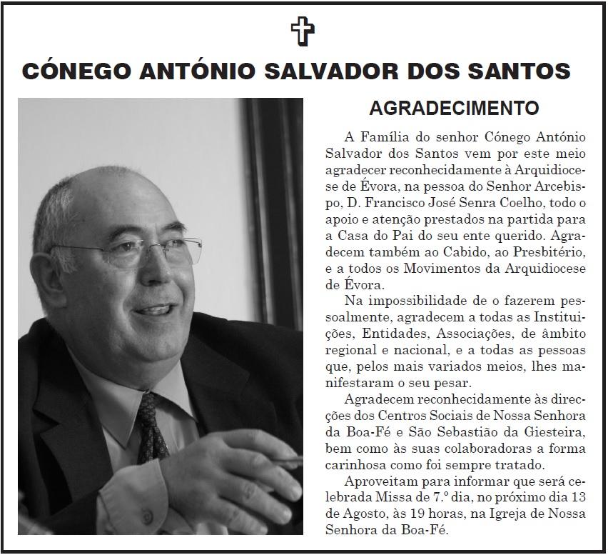 Anuncio Conego Salvador dos Santos