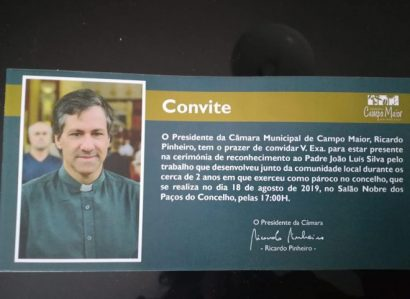 18 de Agosto: Município de Campo Maior faz homenagem ao Pe. João Luís