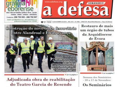 """Revista de Imprensa: Edição de 6 de Novembro do semanário """"a defesa"""""""