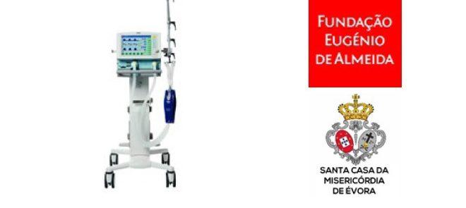 Misericórdia de Évora e Fundação Eugénio de Almeida oferecem ventilador ao Hospital do Espírito Santo