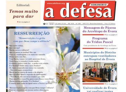 """Revista de Imprensa: Edição de Páscoa do jornal """"a defesa"""" – 8 de Abril de 2020"""