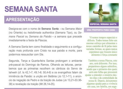 Subsídios para as Celebrações da Semana Santa (ACTUALIZADOS)