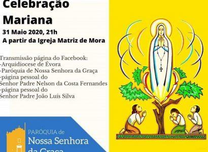 Reveja a Celebração Mariana transmitida a partir da Igreja Matriz de Mora