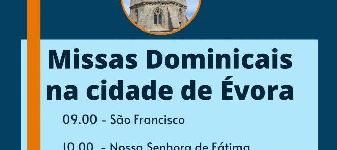 Horários das Missas de Domingo na Cidade de Évora