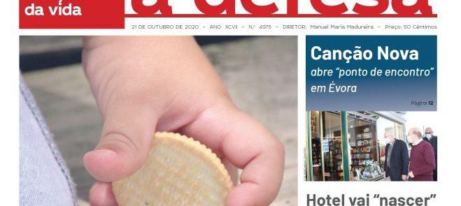"""Revista de Imprensa: Capa da edição de """"a defesa""""  de 21 de Outubro de 2020"""