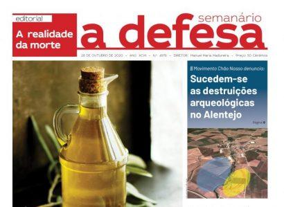 """Revista de Imprensa: Capa da edição de """"a defesa""""  de 28 de Outubro de 2020"""