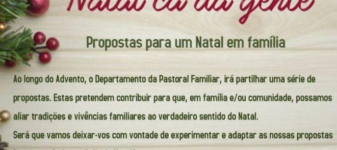 Natal cá da gente – Itinerário espiritual do Departamento da Pastoral da Família de Évora