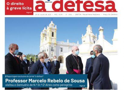 """Revista de Imprensa: Capa da edição de """"a defesa""""  de 28 de Julho de 2021"""