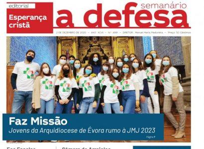 """Revista de Imprensa: Capa do jornal """"a defesa"""" – 2 de Dezembro de 2020"""