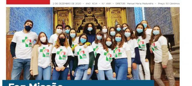"""""""a defesa"""" de 2 de Dezembro: Faz Missão realizada pelos jovens na Arquidiocese em destaque na edição"""