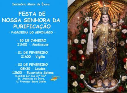 2 de fevereiro, às 12h00: Eucaristia Solene da Festa de Nossa Senhora da Purificação