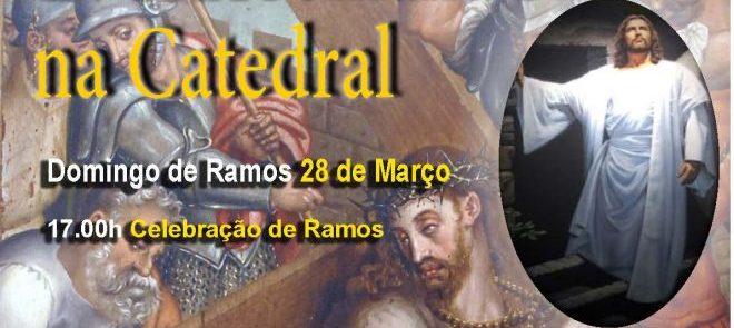 28 de março, às 17h: Eucaristia de Domingo de Ramos na Catedral de Évora