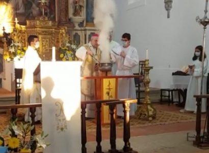 Em Pavia: Sagração de um novo altar  para a capela de S. Francisco